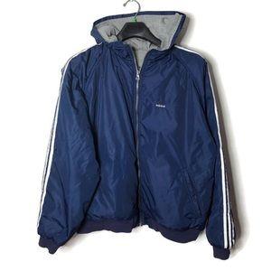 adidas Jackets & Coats - Vintage 90s Adidas reversible jacket blue gray XL